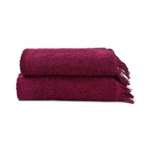Sada 2 červených ručníků ze 100% bavlny Bonami, 50x90 cm