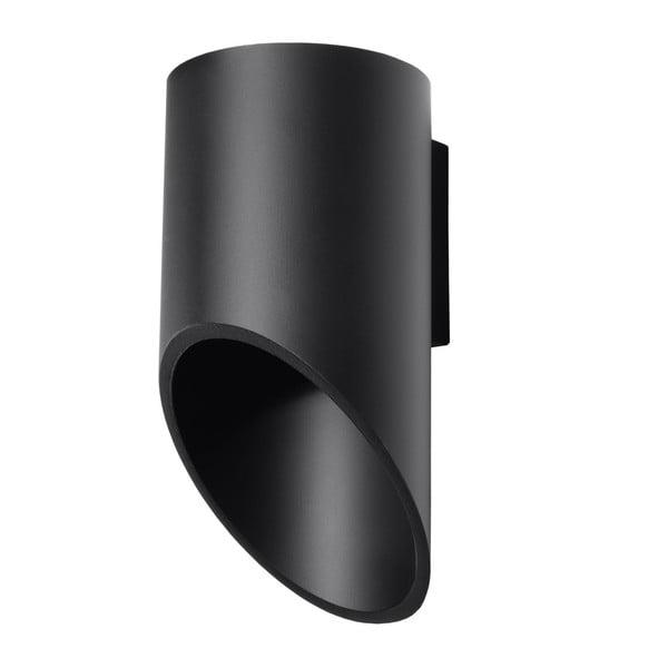 Černé nástěnné světlo Nice Lamps Nixon, délka20cm