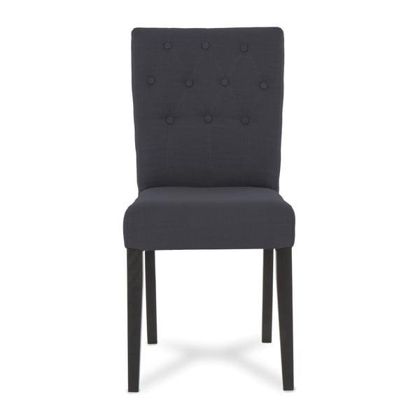 Sada 2 antracitově šedých židlí Vivonita Thena
