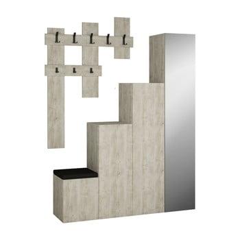 Set dulap și cuier de perete Homitis Up, gri imagine