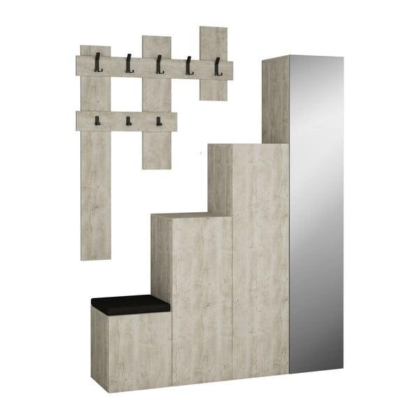 Up szürke szekrény és fali akasztó szett - Homitis