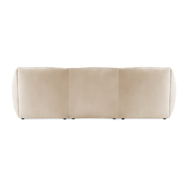 Šedokrémová třímístná modulová pohovka Vivonita Velvet Cube