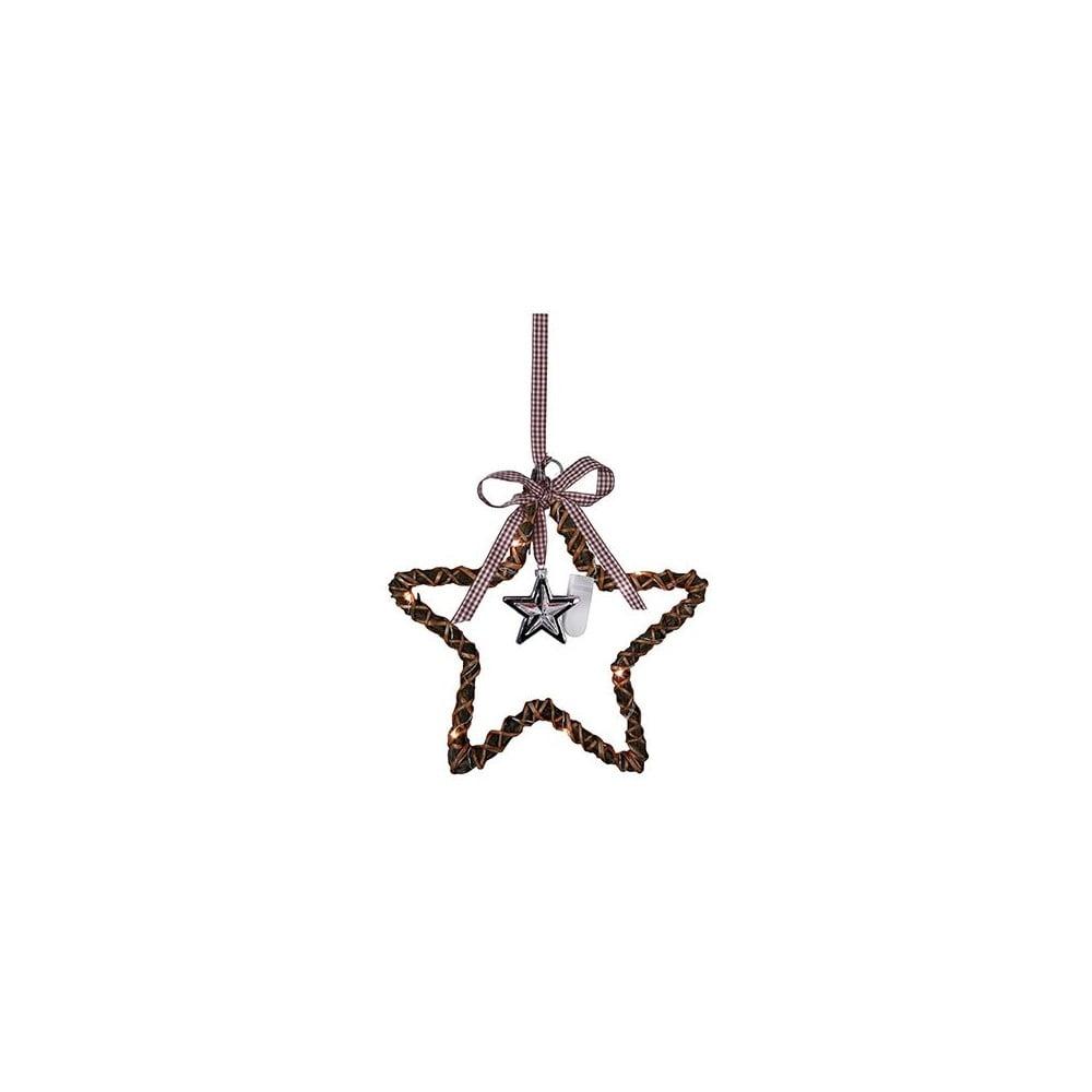 Závěsná svítící hvězda Best Season Willow Brown, ⌀ 25 cm