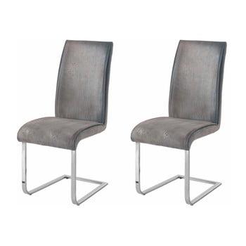 Set 2 scaune Støraa Manto, gri