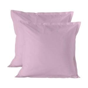 Sada 2 světle růžových povlaků na polštář Basic, 60x60cm