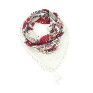 Eșarfă de damă Art of Polo Etna, alb-roșu