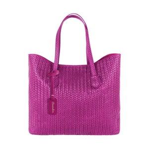 Fuchsiová kožená kabelka Maison Bag Ginnie