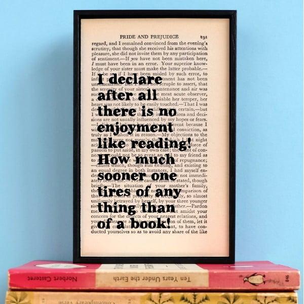 Plakát v dřevěném rámu Pride and Prejudice Reading