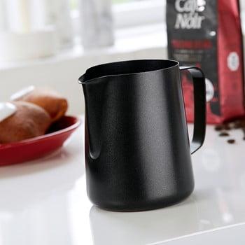 Cană din oțel inoxidabil pentru lapte Steel Function Black, 1 l imagine