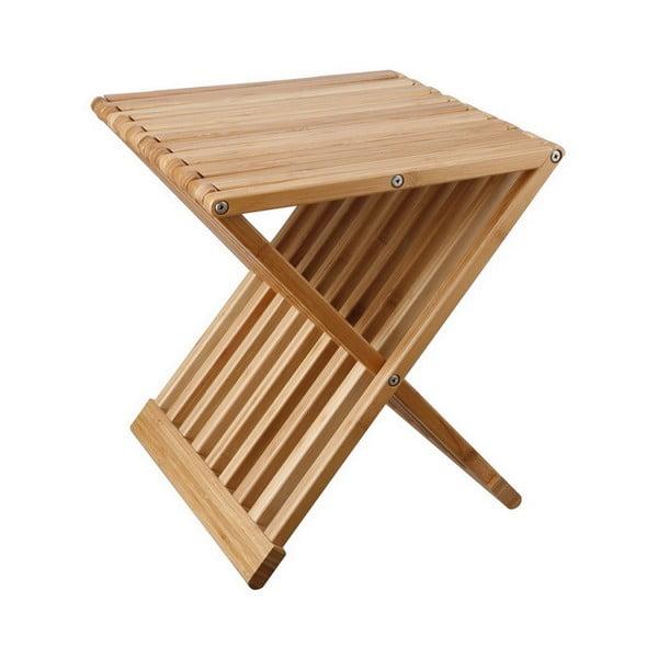 Rozkładany stołek/stolik z bambusu Tomasucci Tiger