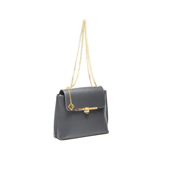 Kožená kabelka Layla 395 Grigio