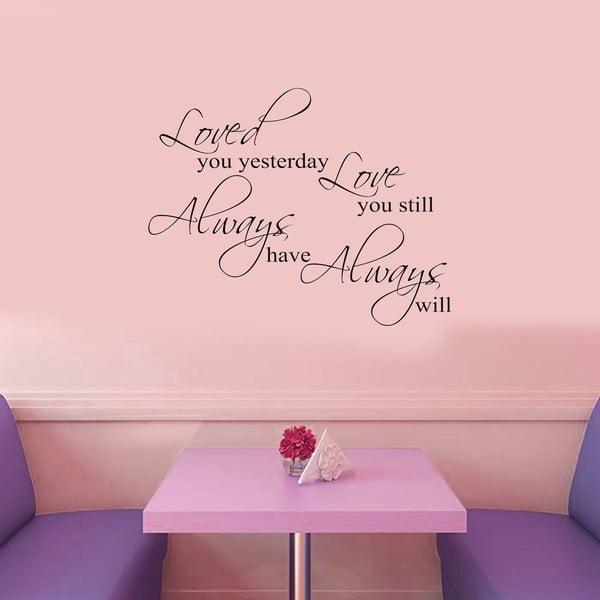 Vinylová samolepka na stěnu Láska navždy
