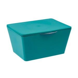 Petrolejově modrý koupelnový box Wenko Brasil Petrol