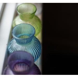 Skleněná váza Inka, světle zelená