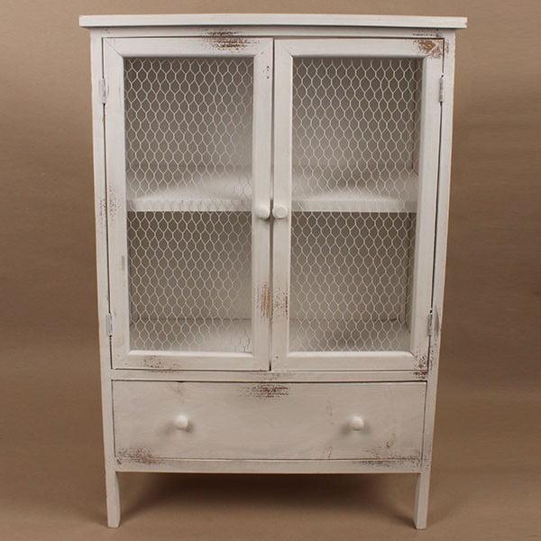Dřevěná skříňka White Days, 60x89 cm