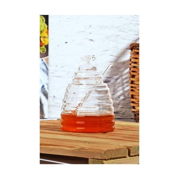 Szklany pojemnik na miód z pokrywką Kutahya Space