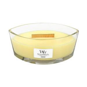 Svíčka s vůní jasmínu WoodWick, dobahoření80hodin