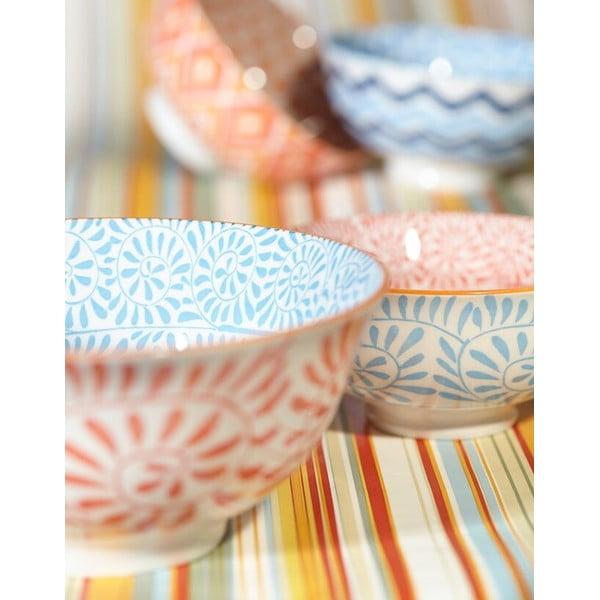 Sada 4 porcelánových talířů Summer Plate, 20.5 cm