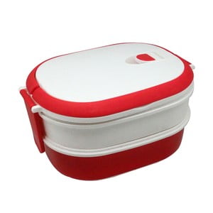 Cutie pentru gustare Jocca Lunchbox, alb - roșu