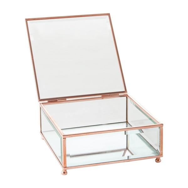 Šperkovnice J-Line Jewel Glass, 15x15 cm
