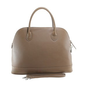 Béžová kožená kabelka Chicca Borse Griot