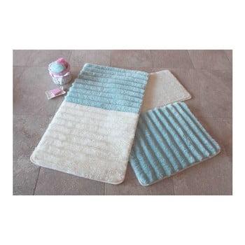 Set 3 covorașe de baie Confetti Bathmats, albastru - alb imagine
