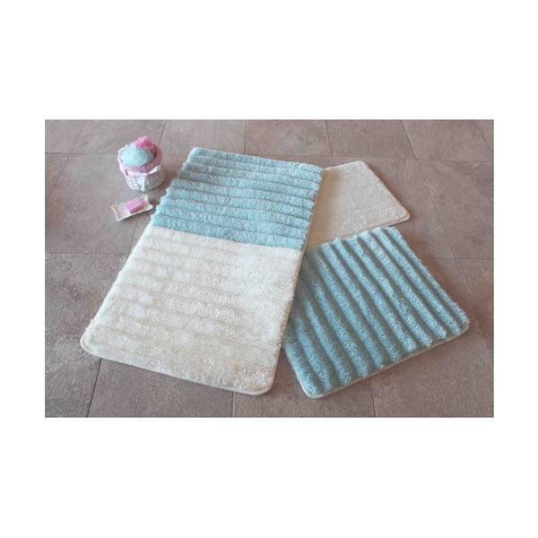 Confetti Bathmats 3 db-os kék-fehér fürdőszobai kilépő szett