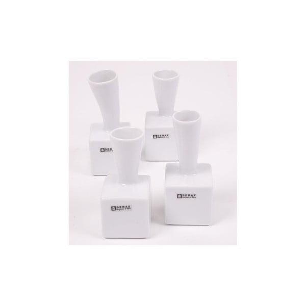 Sada 4 porcelánových váz Cubes