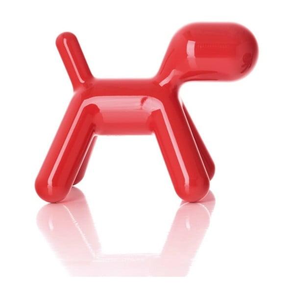 Stolička Puppy červená lesklá, 43 cm