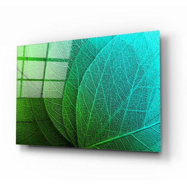 Tablou din sticlă Insigne Green Leaf