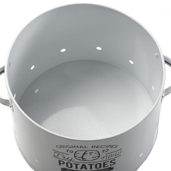 Set 3 kovových nádob, bílé