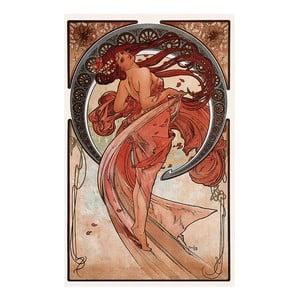 Tablou Alfons Mucha - Dance, 26x40 cm