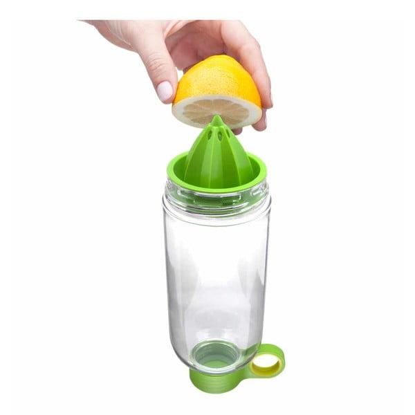 Citruszinger, lahev na vodu a citrusy, zelená