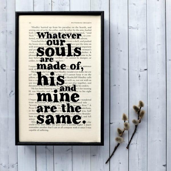 Plakát v dřevěném rámu Wuthering Heights