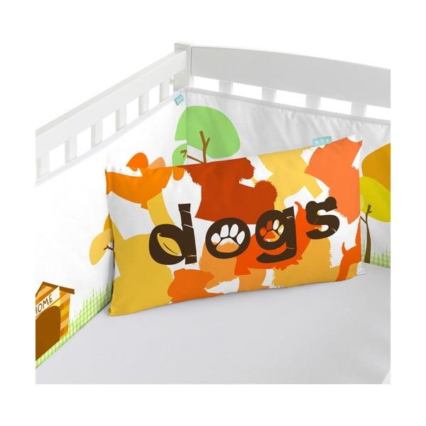 Bavlněná výstelka do postýlky Mr. Fox Dogs, 210x40cm
