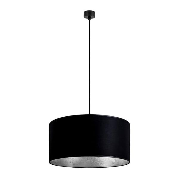 Černé závěsné svítidlo s vnitřkem ve stříbrné barvě Sotto Luce Mika, ⌀50cm