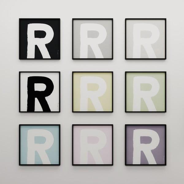 Plakát Litera R, 50x50 cm