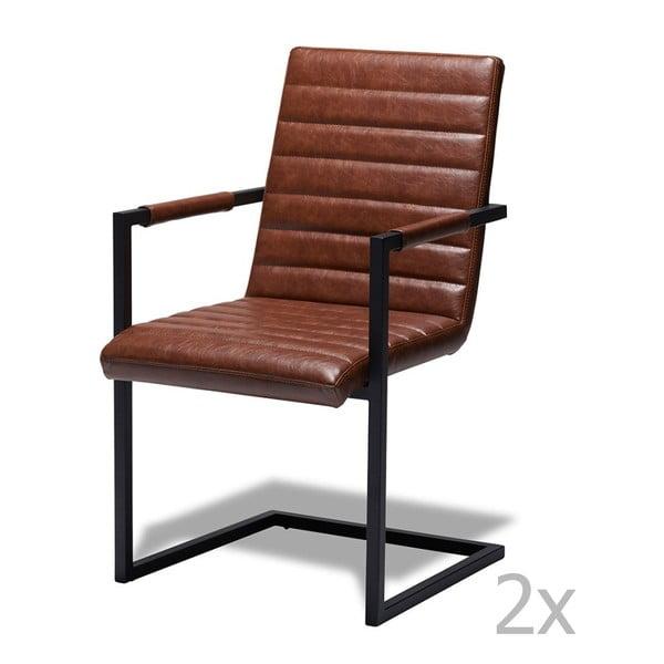 Sada 2 světle hnědých židlí Furnhouse Fanny