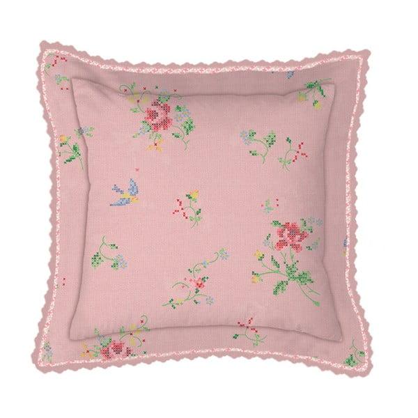 Polštář Granny Pip Pink, 45x45 cm