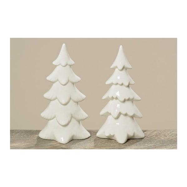 Sada 2 ks porcelánových stromečků Tree Winter, 22 cm
