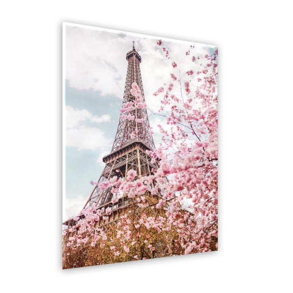 Obraz Styler Glasspik Romantic Eiffel, 70 x 100 cm