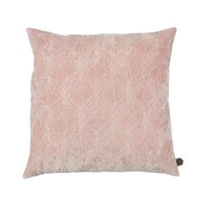 Světle růžový bavlněný polštář BePureHome, 50x50cm