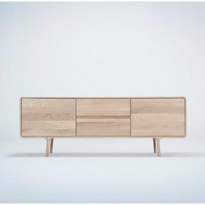 TV komoda z masivního dubového dřeva Gazzda Fawn