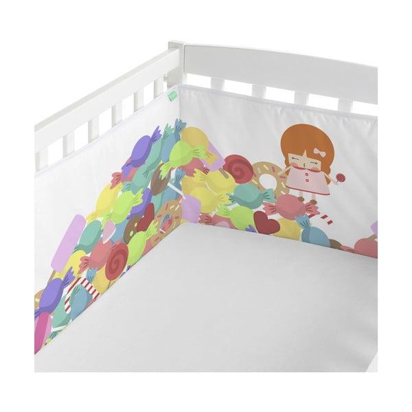 Textilní ohrádka do postýlky Happynois Candies, 210 x 40cm
