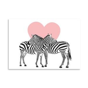 Plakát Americanflat Zebra Couple, 30x42cm