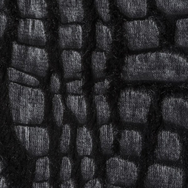 Přehoz Leather Skin Black, 130x170 cm