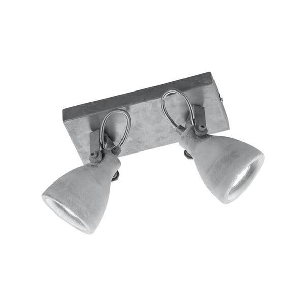 Sivé nástenné svietidlo na 3 žiarovky Trio Concrete, dĺžka 23 cm