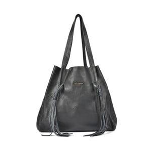 Černá kožená kabelka Luisa Vannini Clara