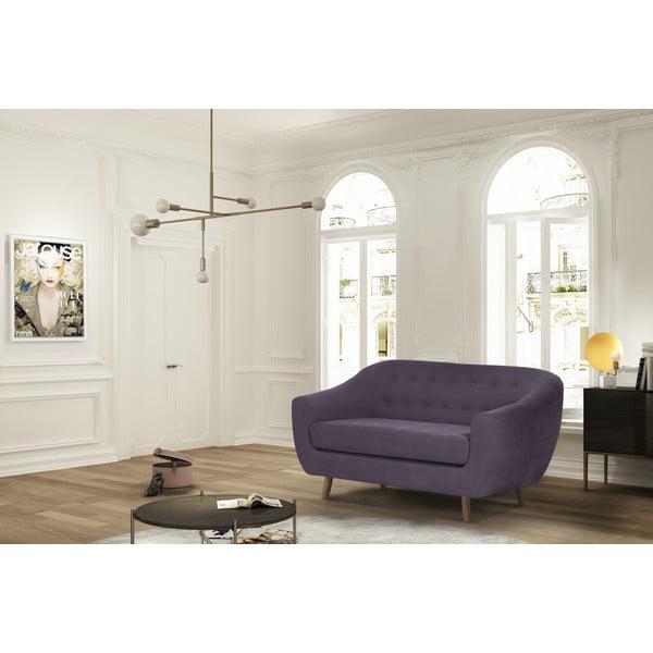 Tmavě fialová dvoumístná pohovka Jalouse Maison Vicky