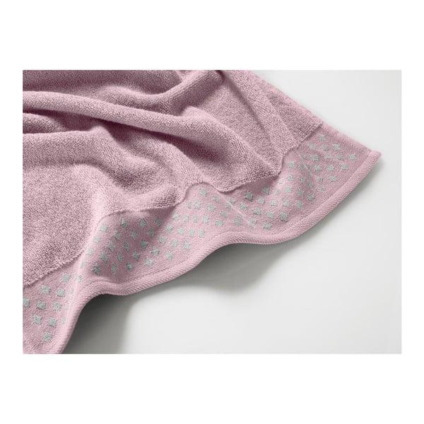 Světle růžová bavlněná osuška Maison Carezza Lazio, 70 x 140 cm